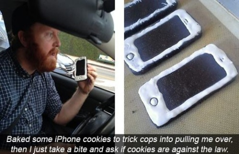 iPhone Looking Cookies to embarrass Cops!