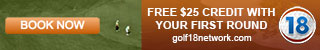 $25 Credit On Golf Tee Time Booking